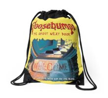 the ghost next door goosebumps Drawstring Bag