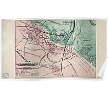 Civil War Maps 1032 Map shewing the position of the lines in front of Petersburg Va occupied by the 1st Division 9th Army Corps April 1st 1865 Poster