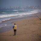 Durban Beach Fishing by Tim Cowley