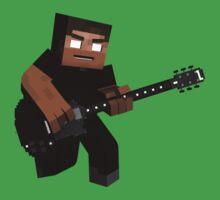 Minecraft Herobrine Rock Kids Tee