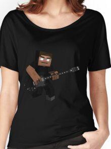 Minecraft Herobrine Rock Women's Relaxed Fit T-Shirt