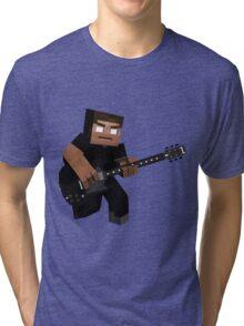 Minecraft Herobrine Rock Tri-blend T-Shirt