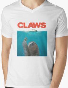 Sloth Claws Parody Mens V-Neck T-Shirt