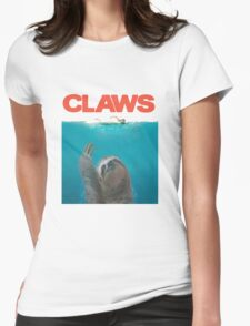 Sloth Claws Parody Womens Fitted T-Shirt