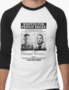 Wanted For Prison Break Men's Baseball ¾ T-Shirt