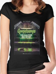 Monster Blood 3 Goosebumps Story Women's Fitted Scoop T-Shirt