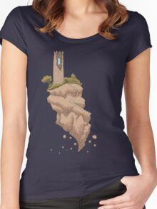 Floating Tower Island Begin Again Women's Fitted Scoop T-Shirt