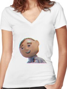 MORAL OREL w/o text Women's Fitted V-Neck T-Shirt