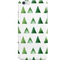 Seamless pattern with grunge green triangles iPhone Case/Skin