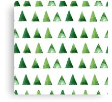 Seamless pattern with grunge green triangles Canvas Print