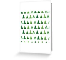 Seamless pattern with grunge green triangles Greeting Card