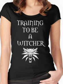 Training to Be a Witcher Women's Fitted Scoop T-Shirt