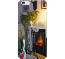 CHRISTMAS EVE BY THE FIREPLACE. iPhone Case/Skin