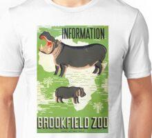 Vintage Brookfield Zoo Hippopotamus WPA Unisex T-Shirt