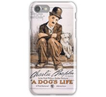 Poster A Dog's Life Charlie Chaplin 1918 iPhone Case/Skin
