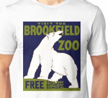 "Vintage ""Visit the Brookfield Zoo"" Polar Bear WPA Unisex T-Shirt"
