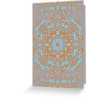 Contemporary Tribal - Orange Blue (02) Greeting Card