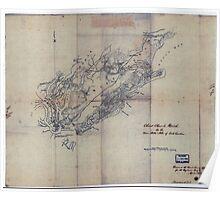 Civil War Maps 0278 Christ Church Parish So Ca Charleston District Poster