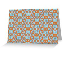 Contemporary Tribal - Orange Blue Greeting Card