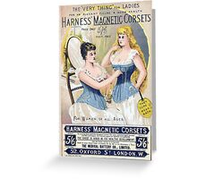 Vintage Medical Quackery Harness Magnetic Corsets Greeting Card