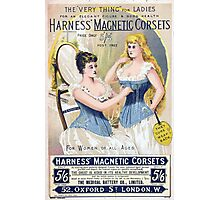 Vintage Medical Quackery Harness Magnetic Corsets Photographic Print