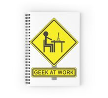 Geek At Work Spiral Notebook