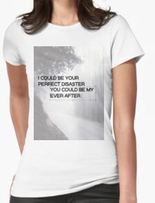 Marianas Trench Ever After Text Womens Fitted T-Shirt