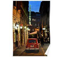 Renault 4, Via Sant'Andrea delle Fratte, Rome Poster