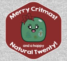 Merry Critmas & Happy Natural 20! Gamer Christmas - Gelatinous Cube Baby Tee