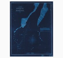 Civil War Maps 1689 South West pass of the Mississippi River Inverted Baby Tee