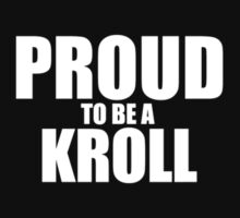 Proud to be a KROLL by pattisd