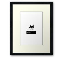 Undertale: Someone's been smoking Framed Print