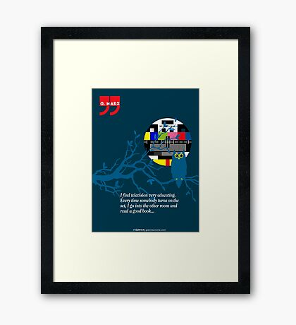 Groucho Marx Quote Framed Print