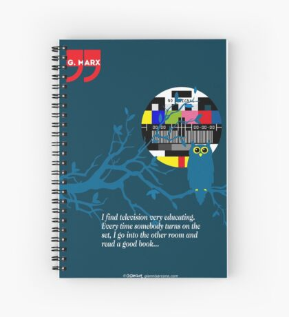 Groucho Marx Quote Spiral Notebook