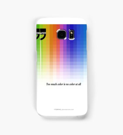 Use Color With Moderation (Chermayeff's Quote) Samsung Galaxy Case/Skin