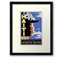 Vintage Federal Theatre Project Haiti Harlem WPA Framed Print