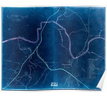 Civil War Maps 0320 Columbia Tenn and vicinity Inverted Poster