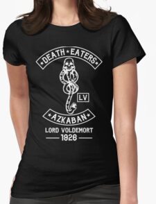 death eaters Azkaban white Womens Fitted T-Shirt