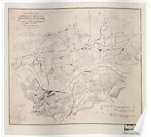Civil War Maps 1838 Topographical map of the approaches and defences of Knoxville E Tennessee shewing the positions occupied by the United States Rebel forces during the siege 02 Poster