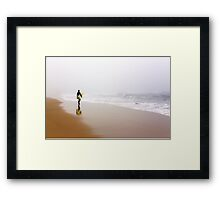 Christmas present for surfers. Framed Print