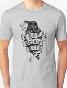 Crows before hoes vintage T-Shirt