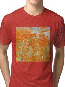 YELLOW RUSTY METAL Tri-blend T-Shirt