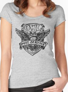 OWL post sevice  Women's Fitted Scoop T-Shirt