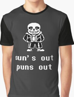 Sans - Sun's out Puns out Graphic T-Shirt