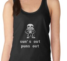 Sans - Sun's out Puns out Women's Tank Top