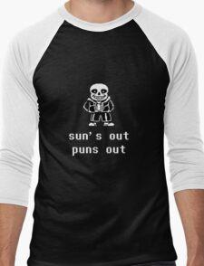 Sans - Sun's out Puns out Men's Baseball ¾ T-Shirt