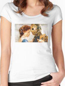 Jason Vorhees as Jack Dawson Women's Fitted Scoop T-Shirt