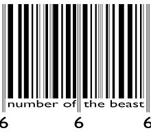 NUMBER OF THE BEAST BARCODE by Calgacus