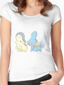 Cyndaquil and Mudkip Women's Fitted Scoop T-Shirt