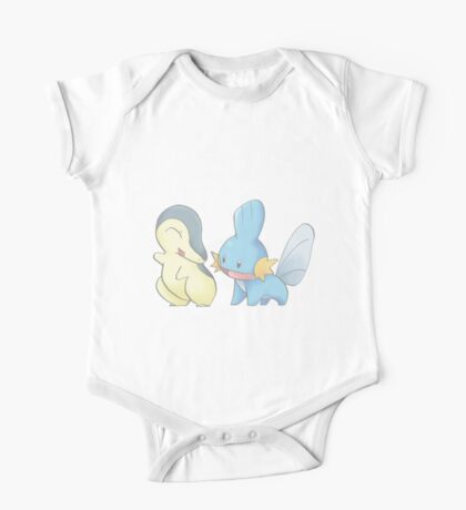 Cyndaquil and Mudkip One Piece - Short Sleeve